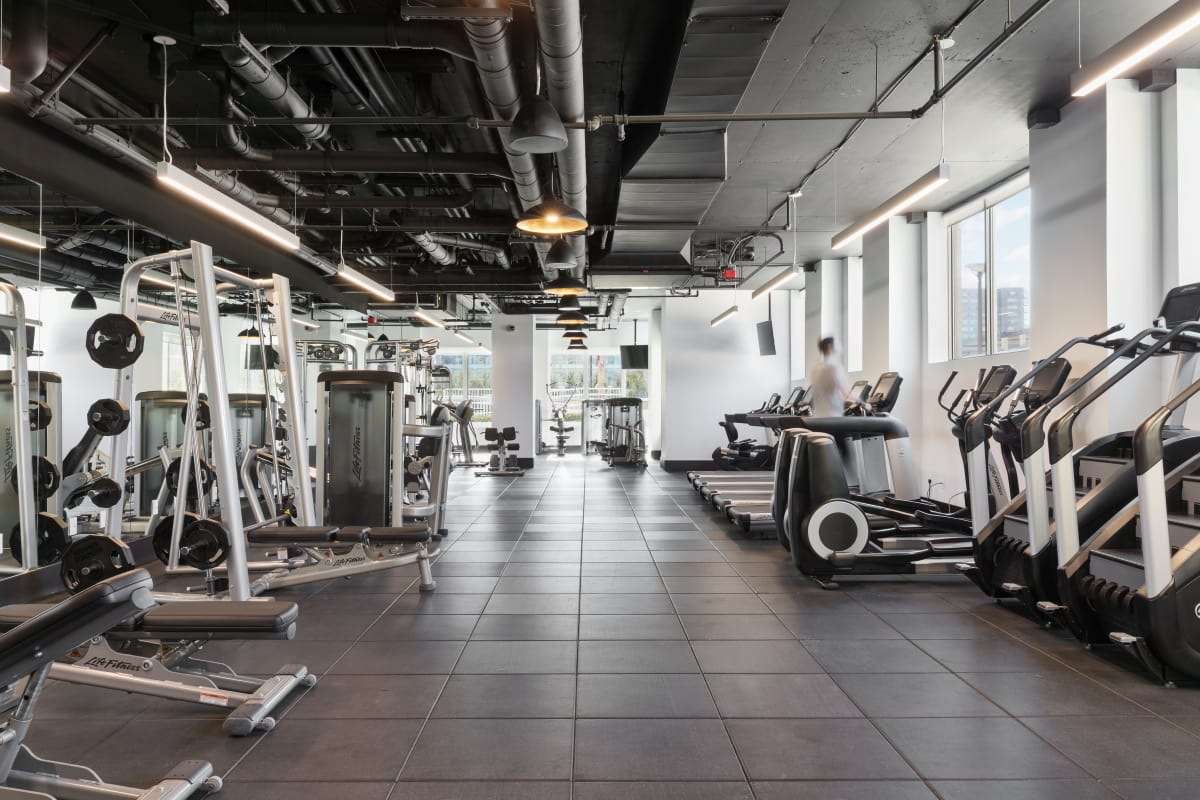 Fitness center in Jersey City, New Jersey at Trump Bay Street
