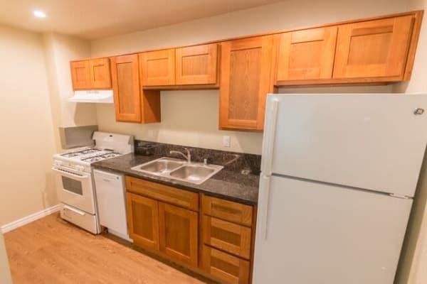 Cozy kitchen at  Sunset Village in West Sacramento, CA