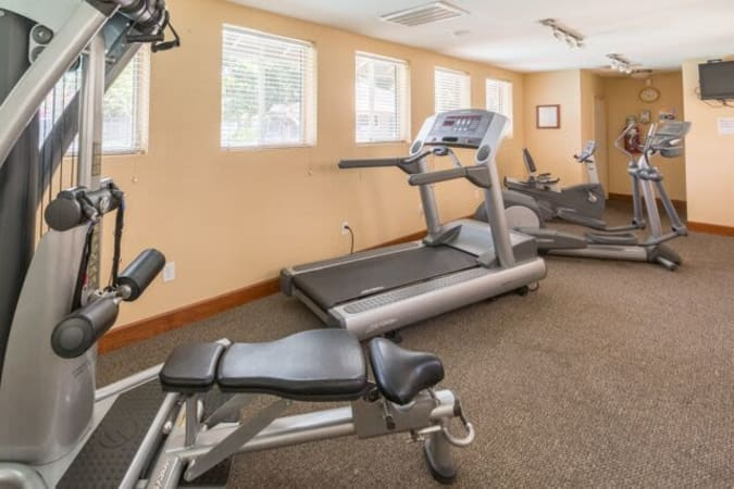 Fitness center at Carmel Woods in Modesto, California