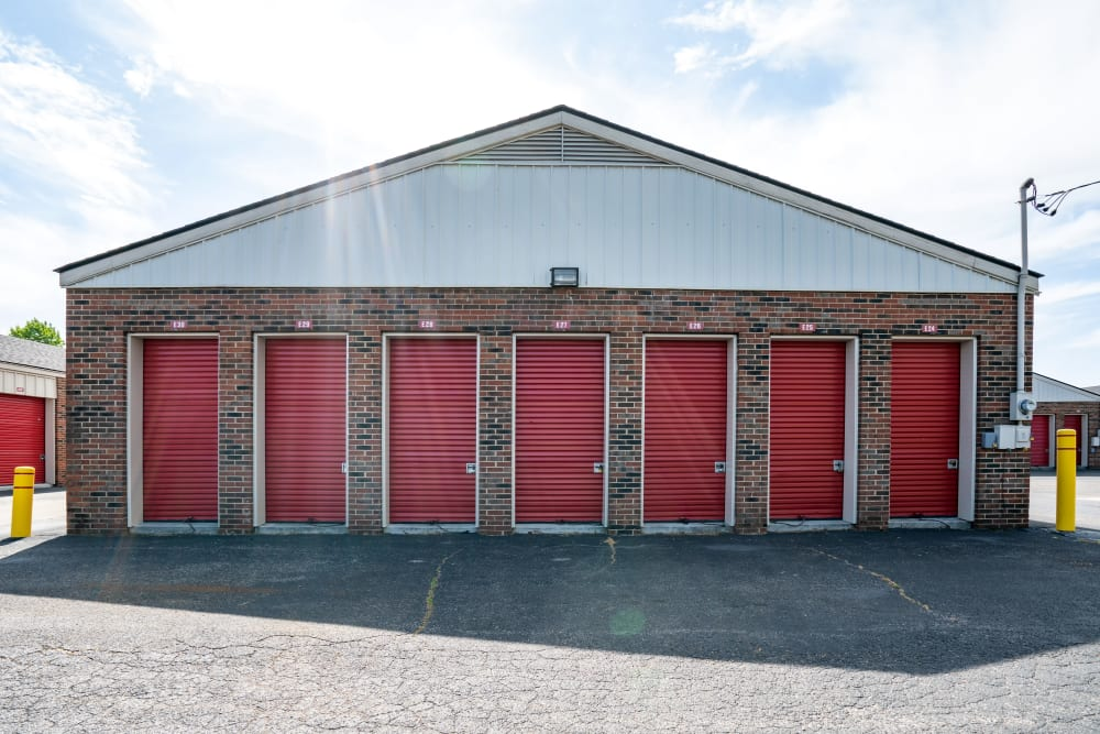 Outdoor Self storage units at Metro Self Storage in Knoxville, TN