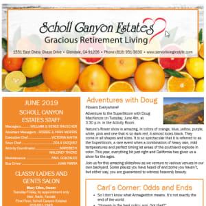 June Scholl Canyon Estates Newsletter