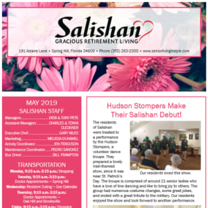 May Salishan Gracious Retirement Living newsletter
