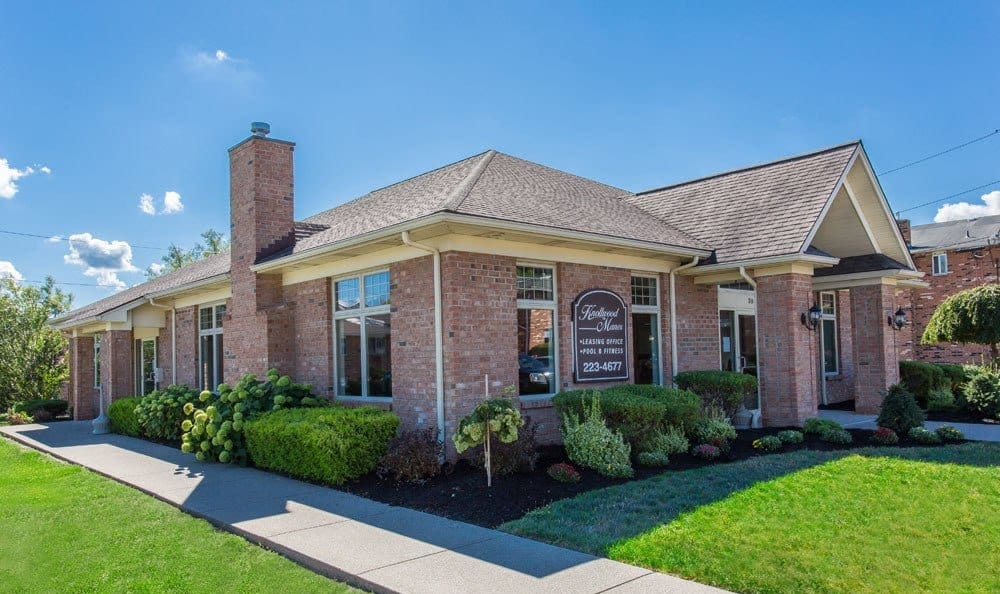 Leasing office at Knollwood Manor Apartments in Fairport, NY