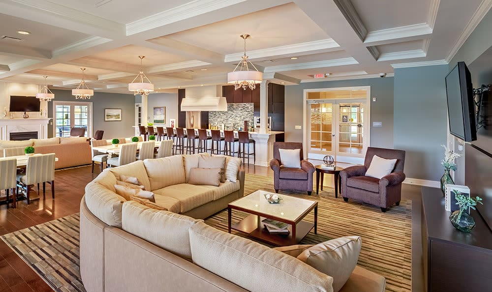 Luxury clubhouse at Rochester Village Apartments at Park Place in Cranberry Township, PA