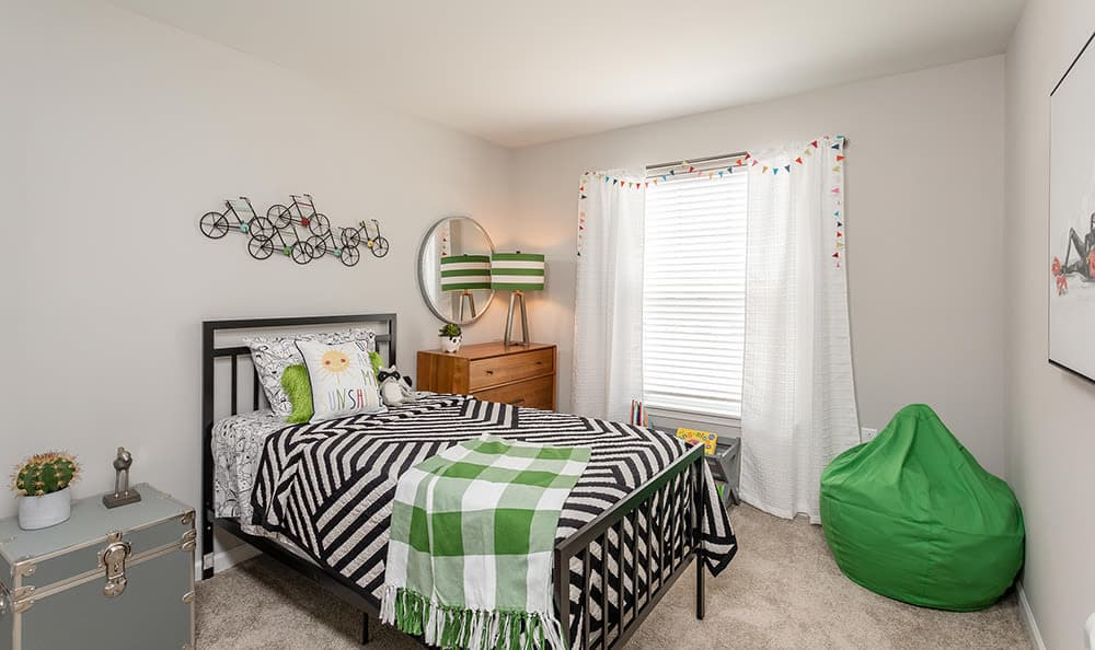 Bedroom at Woodland Acres Townhomes in Liverpool, NY