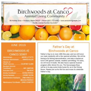 June Birchwoods at Canco Assisted Living Newsletter