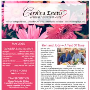 May Carolina Estates newsletter