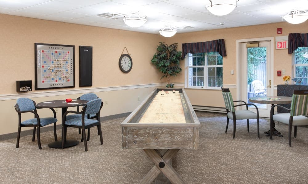 Community game room at Governor's Village in Mayfield Village, Ohio
