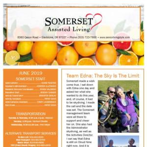 June Somerset Assisted Living Newsletter