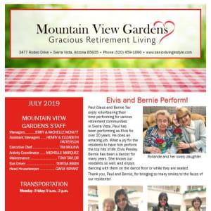 July Mountain View Gardens Newsletter