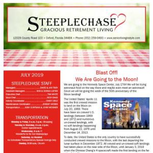 July Steeplechase Retirement Residence Newsletter