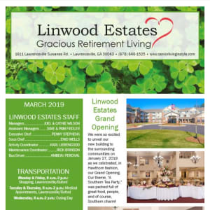 March Linwood Estates Gracious Retirement Living Newsletter