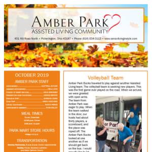 October Amber Park Newsletter