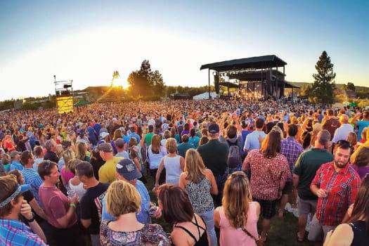 Outdoor concert near The Alexander in Bend, Oregon