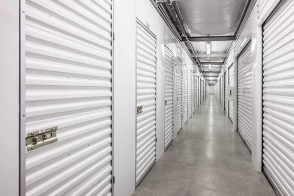 Hallway of units at StorQuest Self Storage in Federal Way, WA
