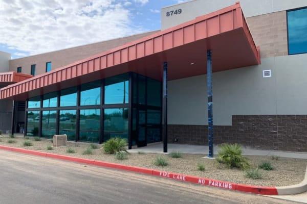 The main entrance at Towne Storage in Mesa, Arizona