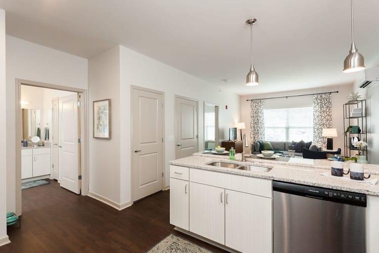 Beautifully designed kitchen at Village Heights Senior Apartments