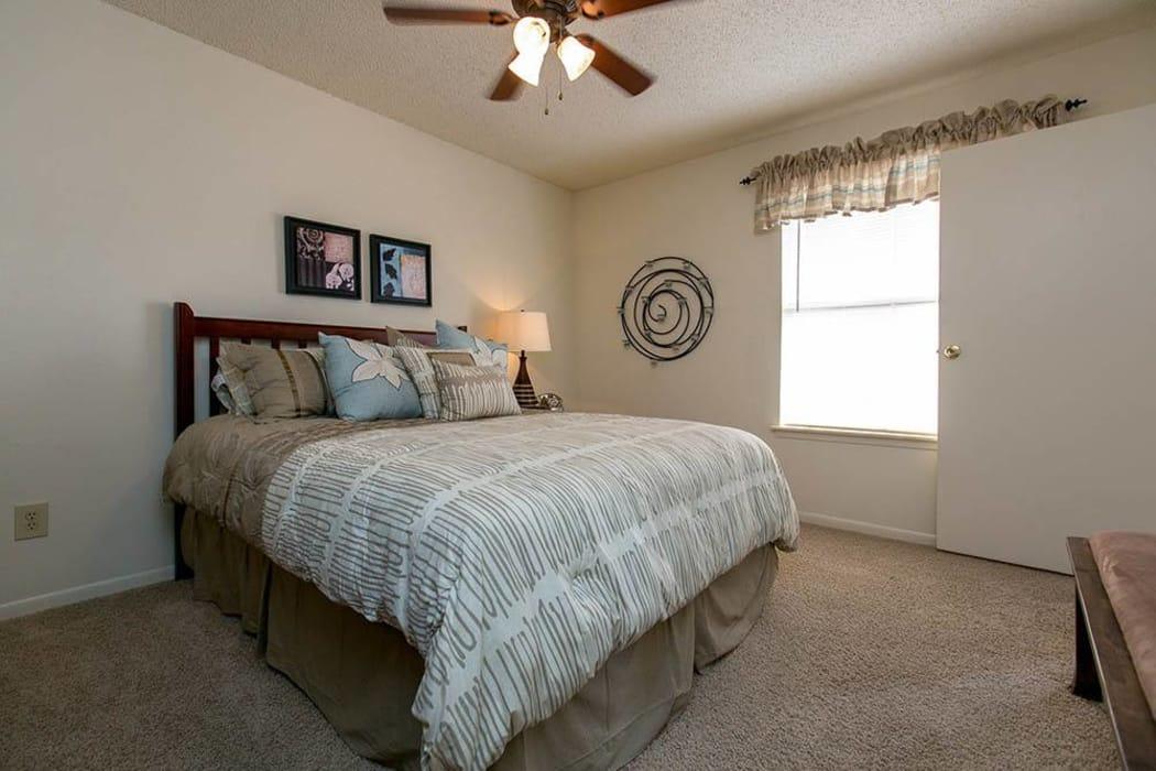 Master bedroom at Walnut Ridge Apartments in Corpus Christi, Texas