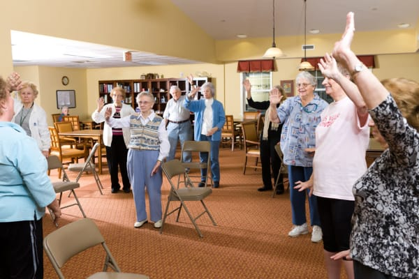 Therapy classes at Heritage Green Assisted Living and Memory Care in Lynchburg, Virginia