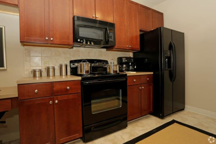 Fully-equipped kitchen at McBee Station in Greenville, South Carolina