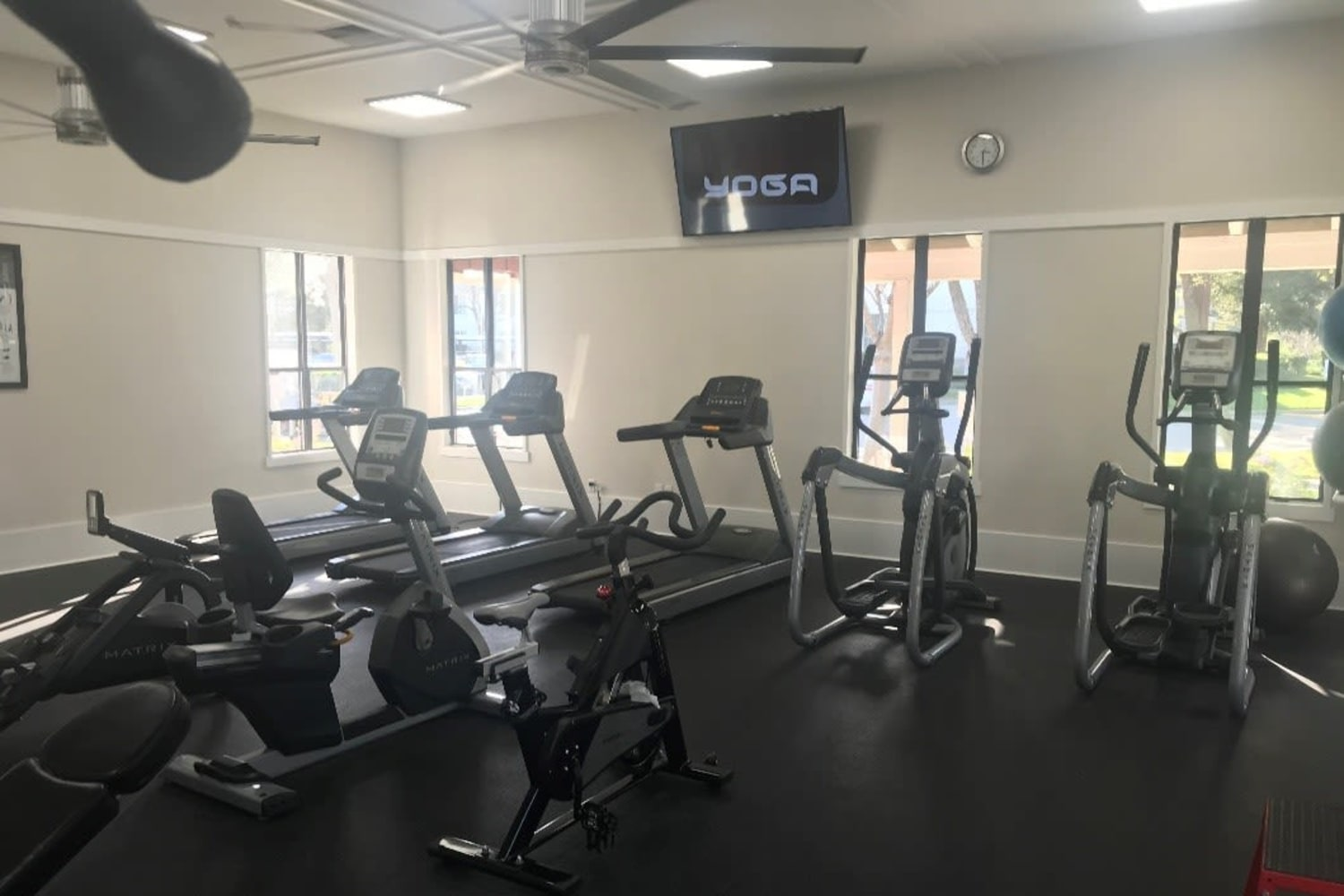 Fitness equipment at Cotton Wood Apartments in Dublin, California