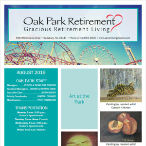 August Oak Park Retirement newsletter