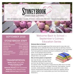 September Stoneybrook Assisted Living Newsletter