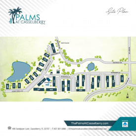 Printable site map image at The Palms at Casselberry in Casselberry, Florida