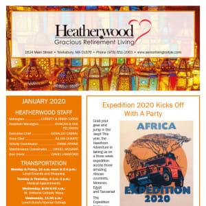 January Heatherwood Gracious Retirement Living newsletter
