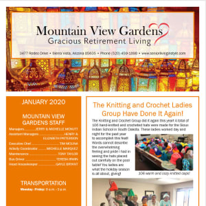January Mountain View Gardens Newsletter