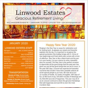 January Linwood Estates Gracious Retirement Living Newsletter