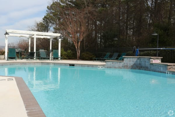 Swimming pool at Rutland Place in Macon, Georgia