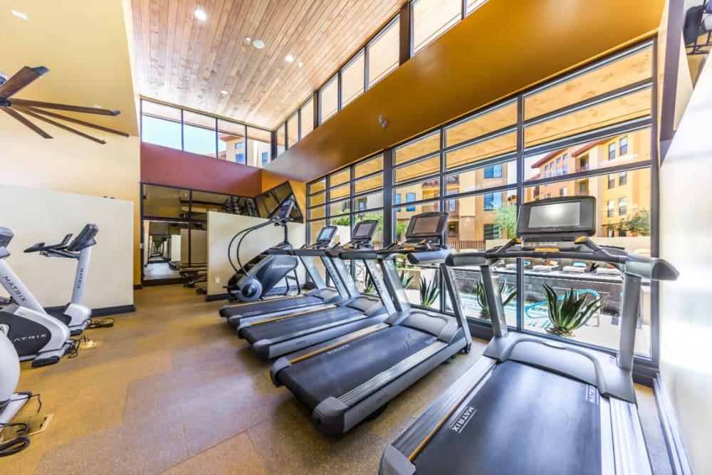 Cardio machines in the fitness center at Marquis at Desert Ridge in Phoenix, Arizona