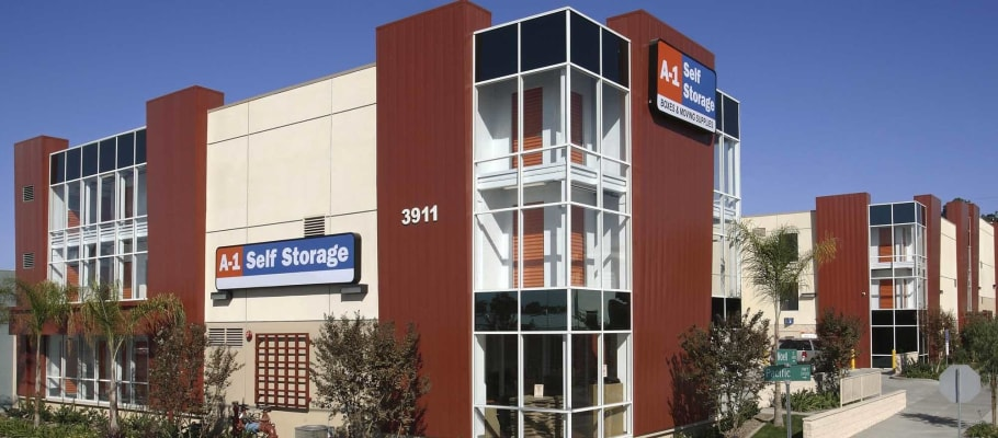 Outside view of the facility in San Diego, California at A-1 Self Storage