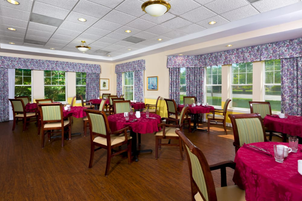 Beautiful dining room at Weinberg Park in Baltimore, Maryland