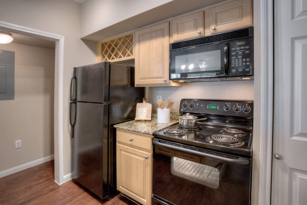 Kitchen at Marquis Bandera in San Antonio, Texas