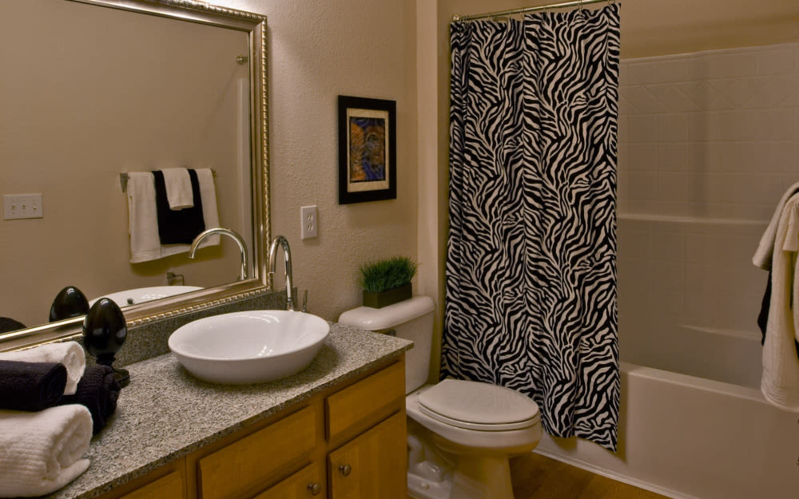 Spacious bathrooms at Plantation Crossing in Lafayette, Louisiana.