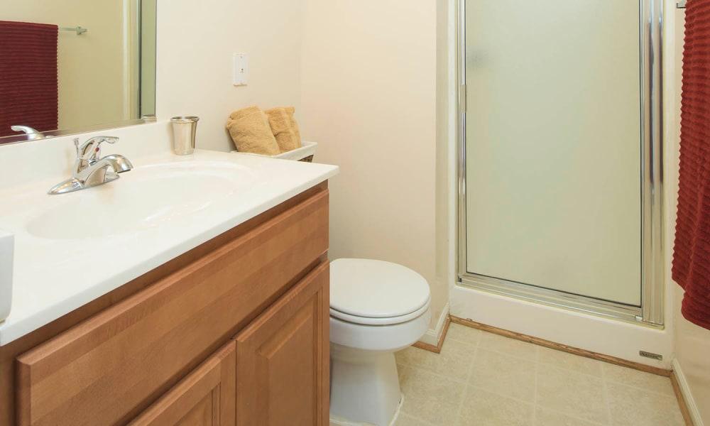 Bathroom at Park Villas Apartments in Lexington Park, Maryland