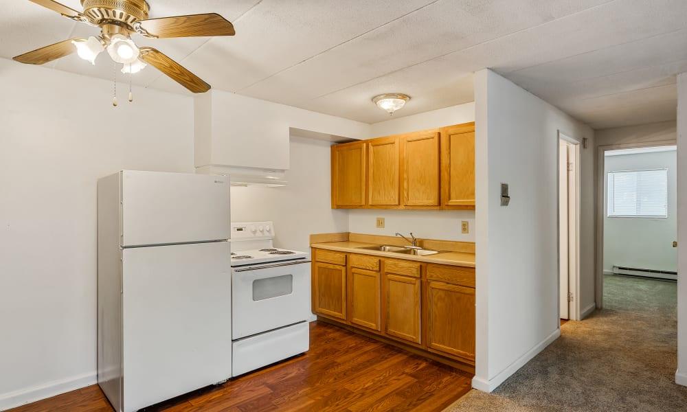 Spacious kitchen at Brixworth Apartments in Cincinnati, Ohio