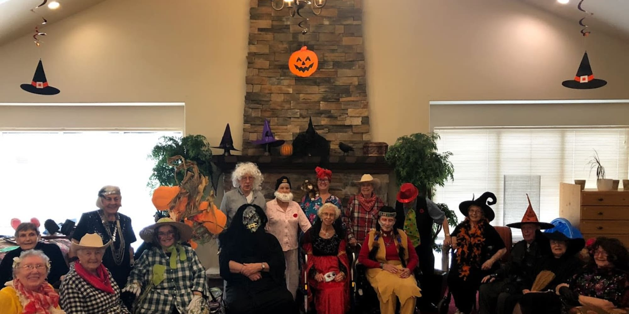 Residents dressed up for Halloween at Heritage Meadows Gracious Retirement Living in Cambridge, Ontario