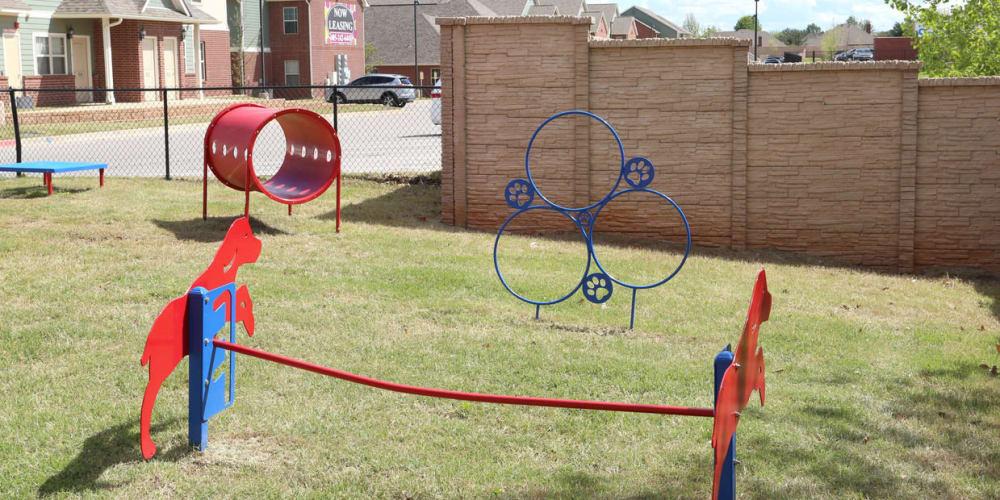 Dog park at Cross Timber in Oklahoma City, Oklahoma