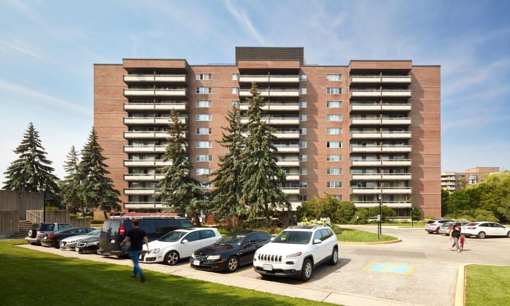 Parking lot near Richmond Hill Apartments in Richmond Hill, Ontario