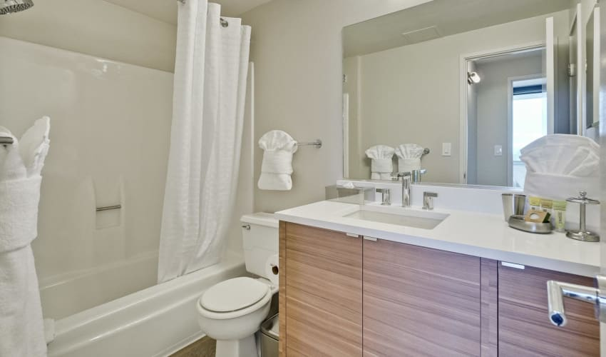 Bathroom at Apartments in Palo Alto, California