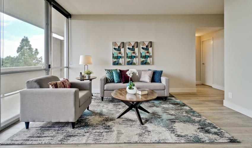 Our Apartments in Palo Alto, California offer a spacious Living Room