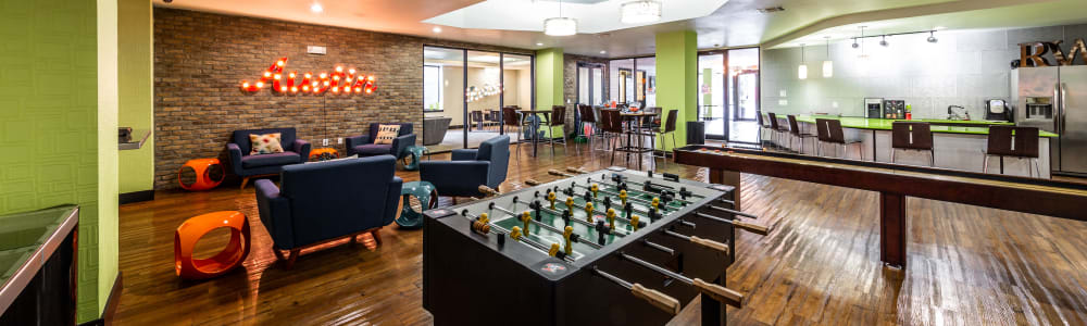Game room at Regents West at 24th in Austin, Texas