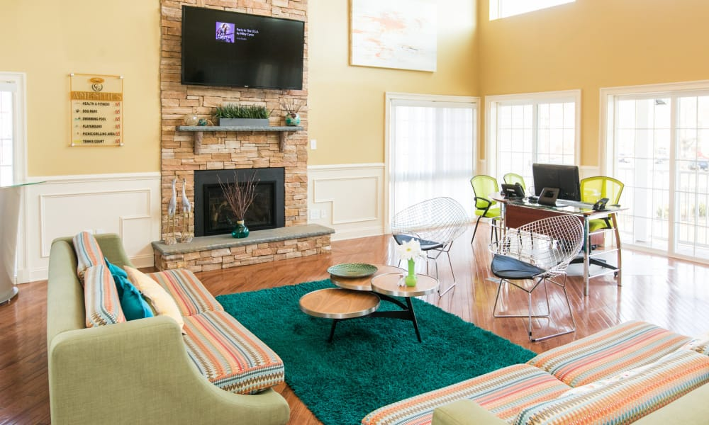 Spacious and naturally well-lit living area at Chesapeake Glen Apartment Homes in Glen Burnie, MD
