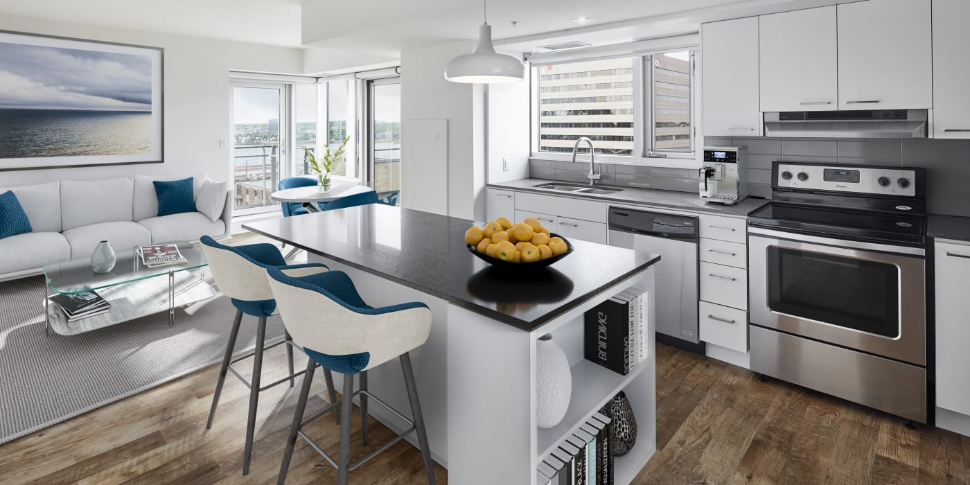 Beautiful kitchen at 19Twenty Apartments in Halifax, Nova Scotia