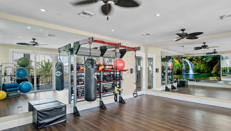 Spin and yoga studio at Town Lantana in Lantana, Florida