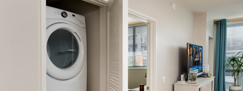 In-unit washer and dryer at The Flats in Doral, Florida