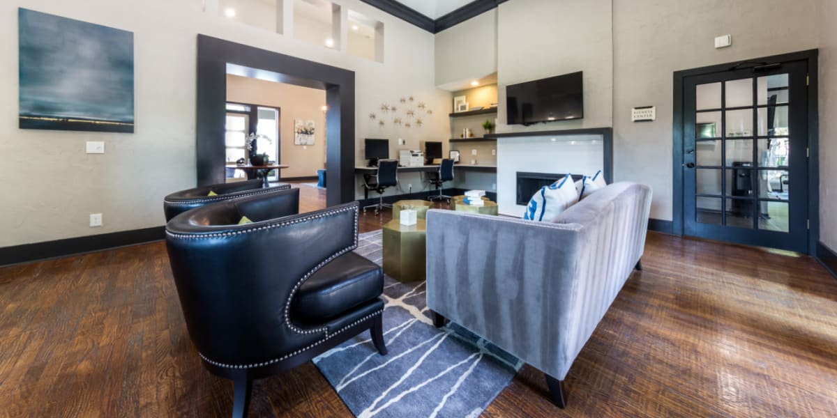 Interior lobby area at Marquis at Legacy in Plano, Texas